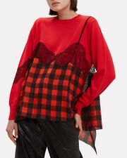 Caia Printed Sweater, RED, hi-res