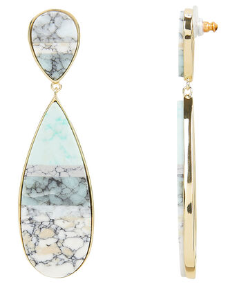 Santa Fe Marble Drop Earrings, GOLD/MARBLE, hi-res