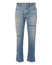 High-Rise Ripped Ankle Crop Jeans, DENIM, hi-res