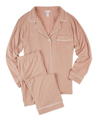 Giftable Gisele Long Pajama Set, PINK, hi-res