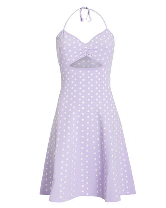 Shila Polka Dot Dress, PURPLE/WHITE/POLKA DOTS, hi-res