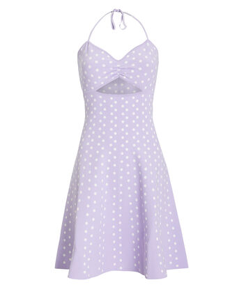 Shila Polka Dot Dress, PURPLE, hi-res