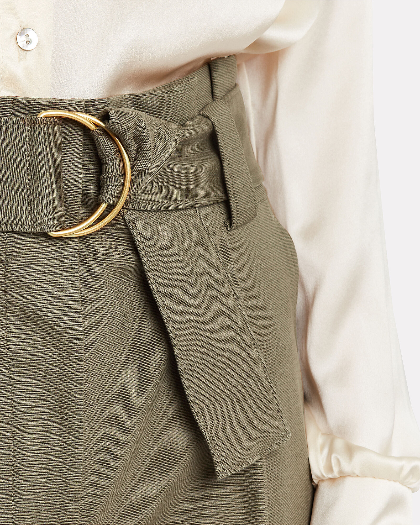 Diego Tapered Paperbag Trousers, OLIVE/ARMY, hi-res