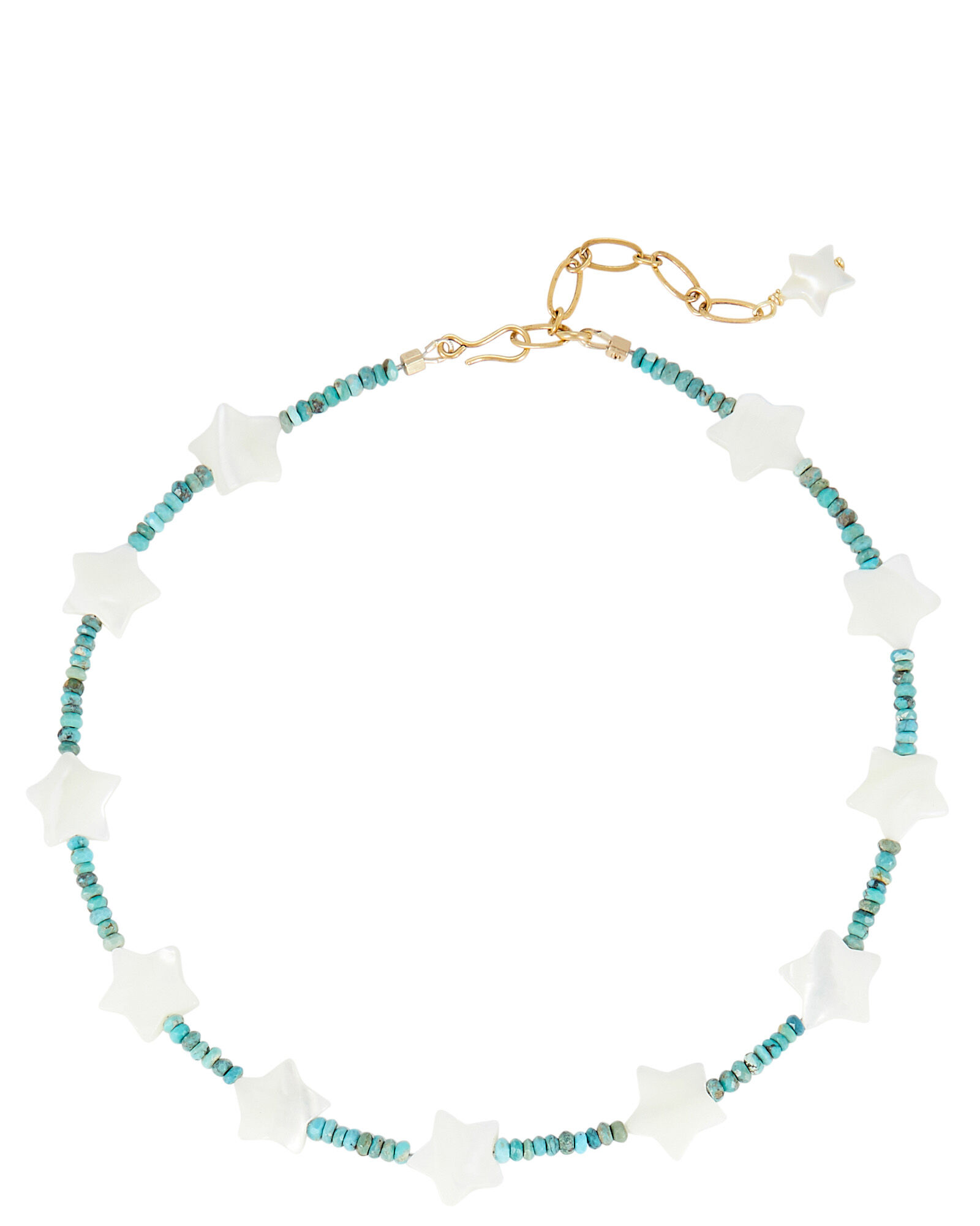Starry Eyed Beaded Necklace, TURQUOISE, hi-res