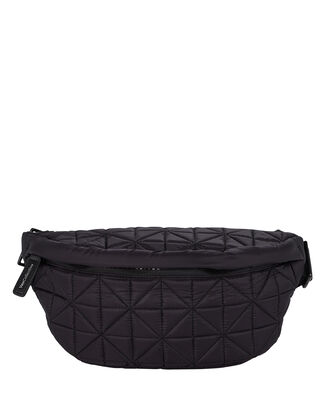 Quilted Fanny Pack, BLACK, hi-res