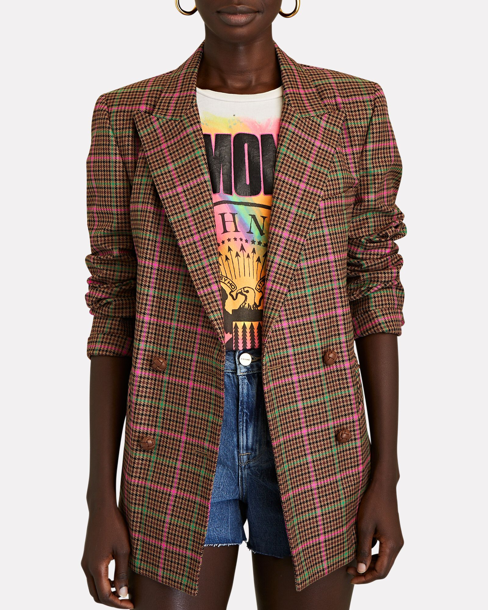 Sirah Everynight Double-Breasted Blazer, BROWN, hi-res