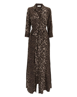 Cameron Leopard Print Shirtdress, OLIVE/ARMY, hi-res
