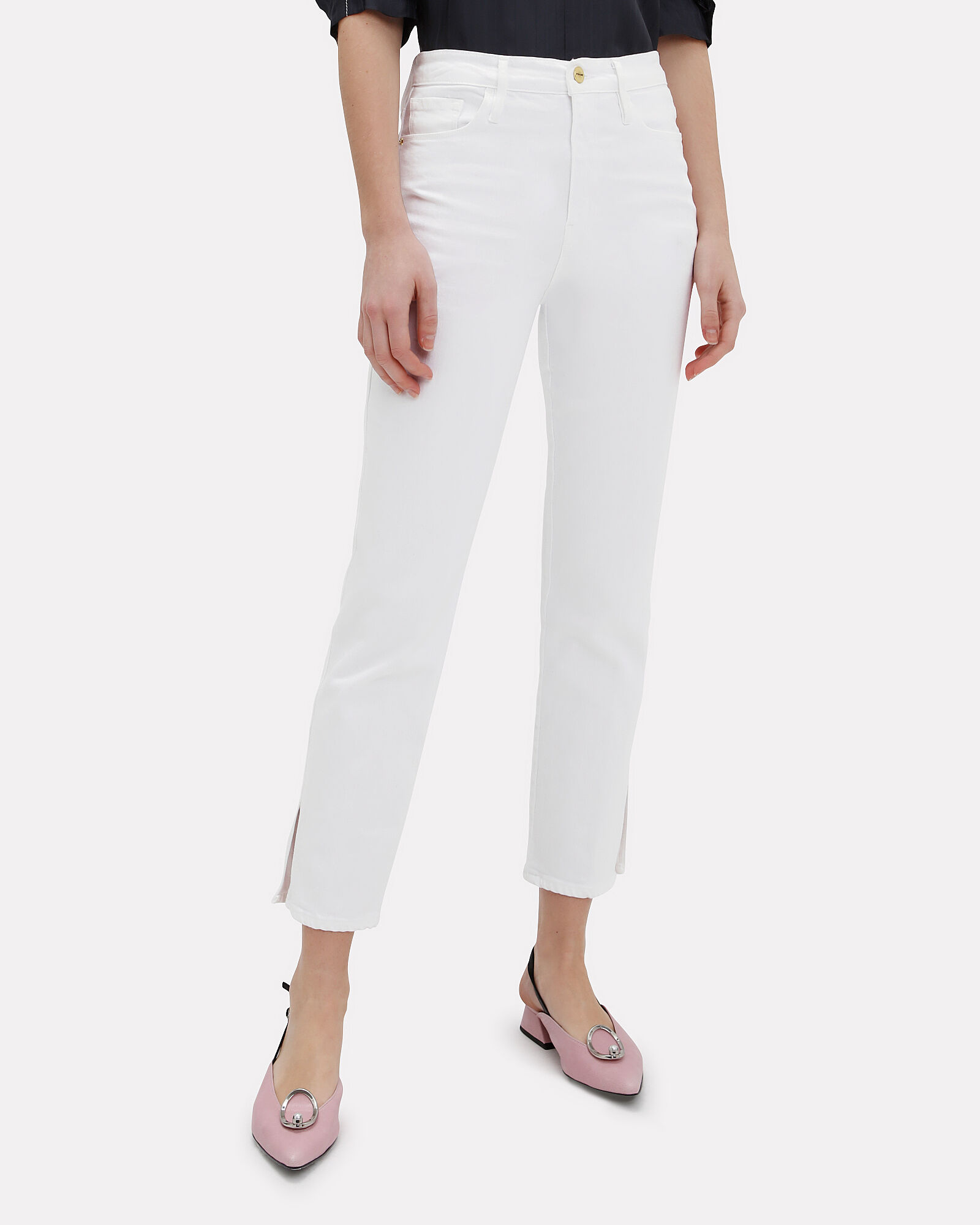 Sylvie Cropped Ankle Jeans, WHITE, hi-res