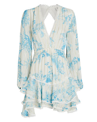 Brie Floral Chiffon Mini Dress, , hi-res