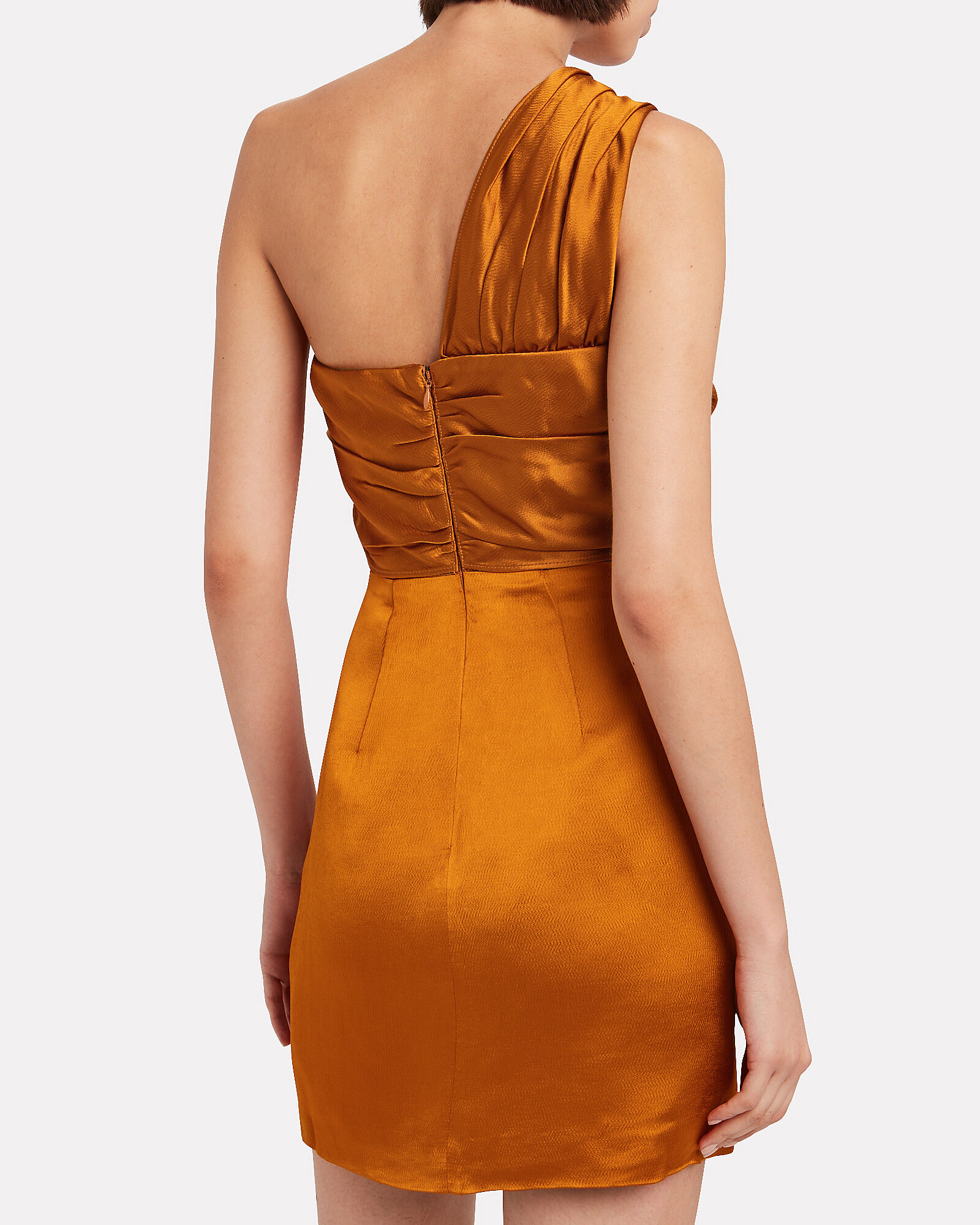 Misha One-Shoulder Mini Dress, YELLOW, hi-res