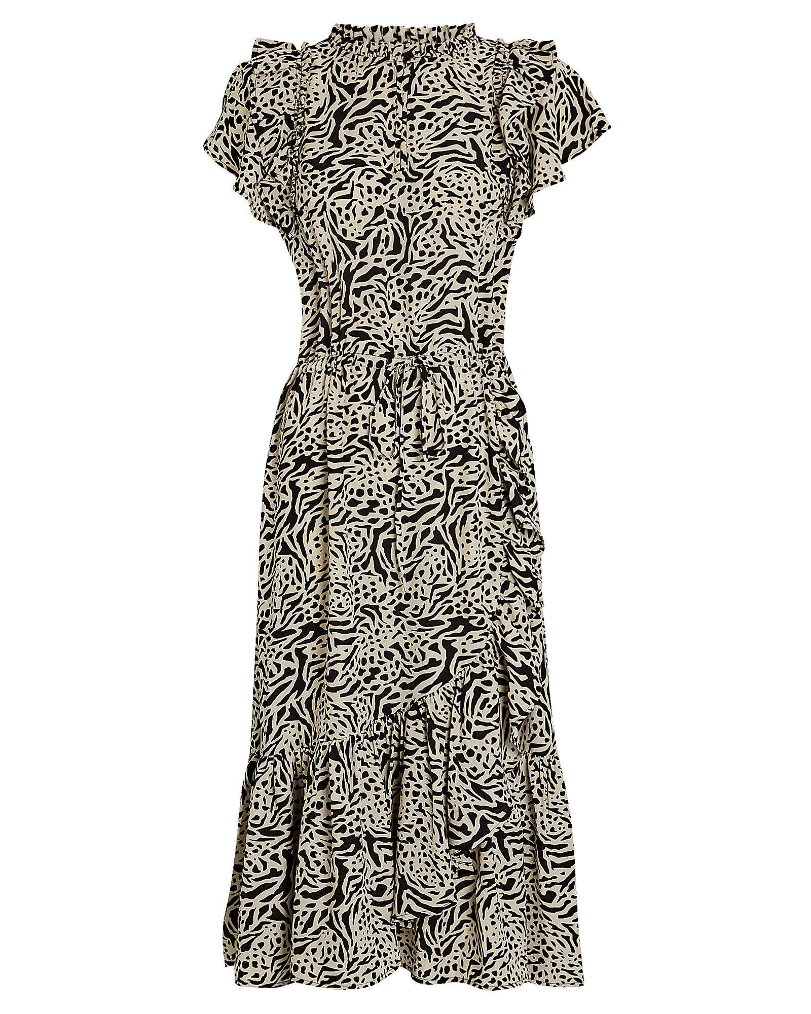 Ernie Printed Midi Dress, MULTI, hi-res