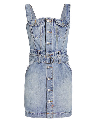 Deejay Denim Dress, LIGHT WASH DENIM, hi-res