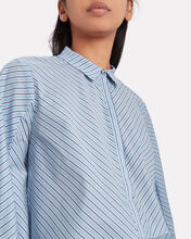 Jetset Striped Puff Sleeve Blouse, MULTI, hi-res