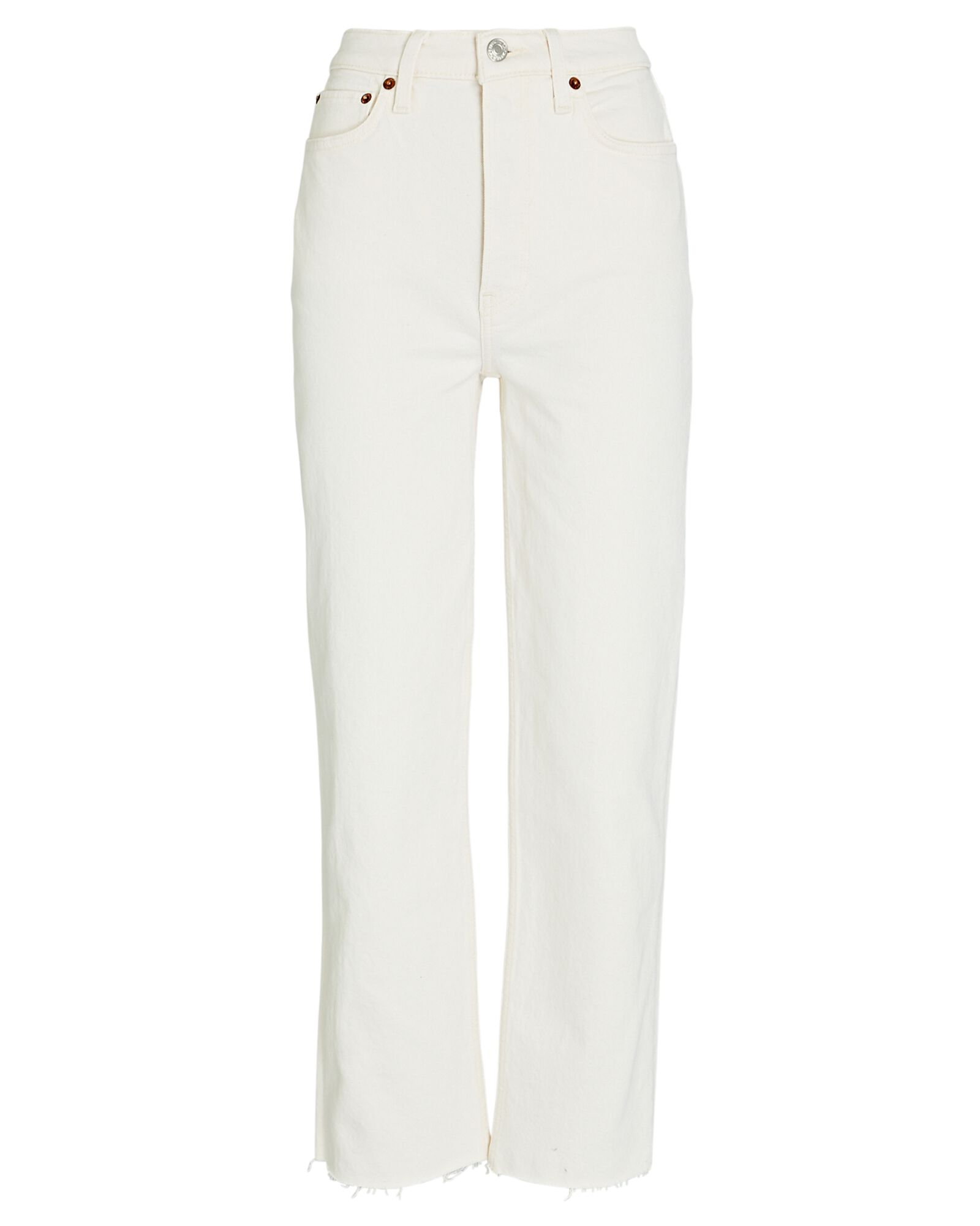 70s High-Rise Stove Pipe Jeans, IVORY, hi-res