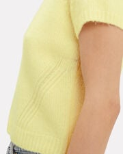 Maggie Cropped Sweater, YELLOW, hi-res