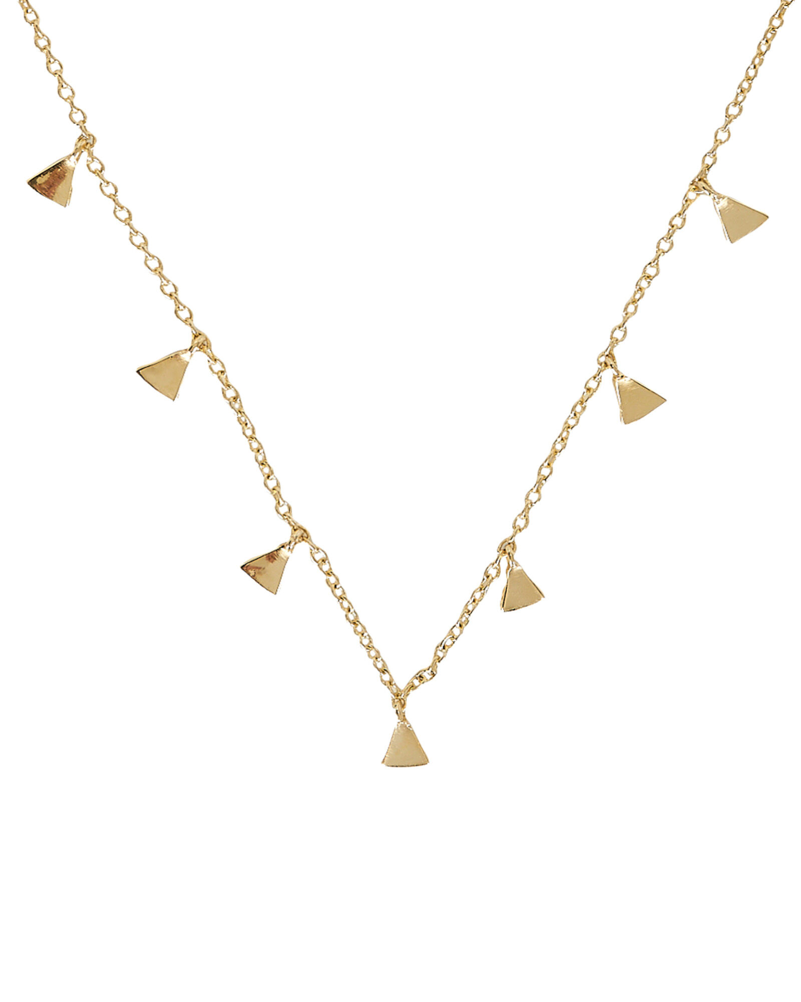 Chain Charm Necklace, GOLD, hi-res