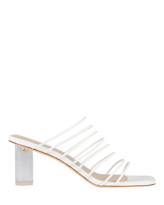 Zoe Strappy Leather Sandals, WHITE, hi-res