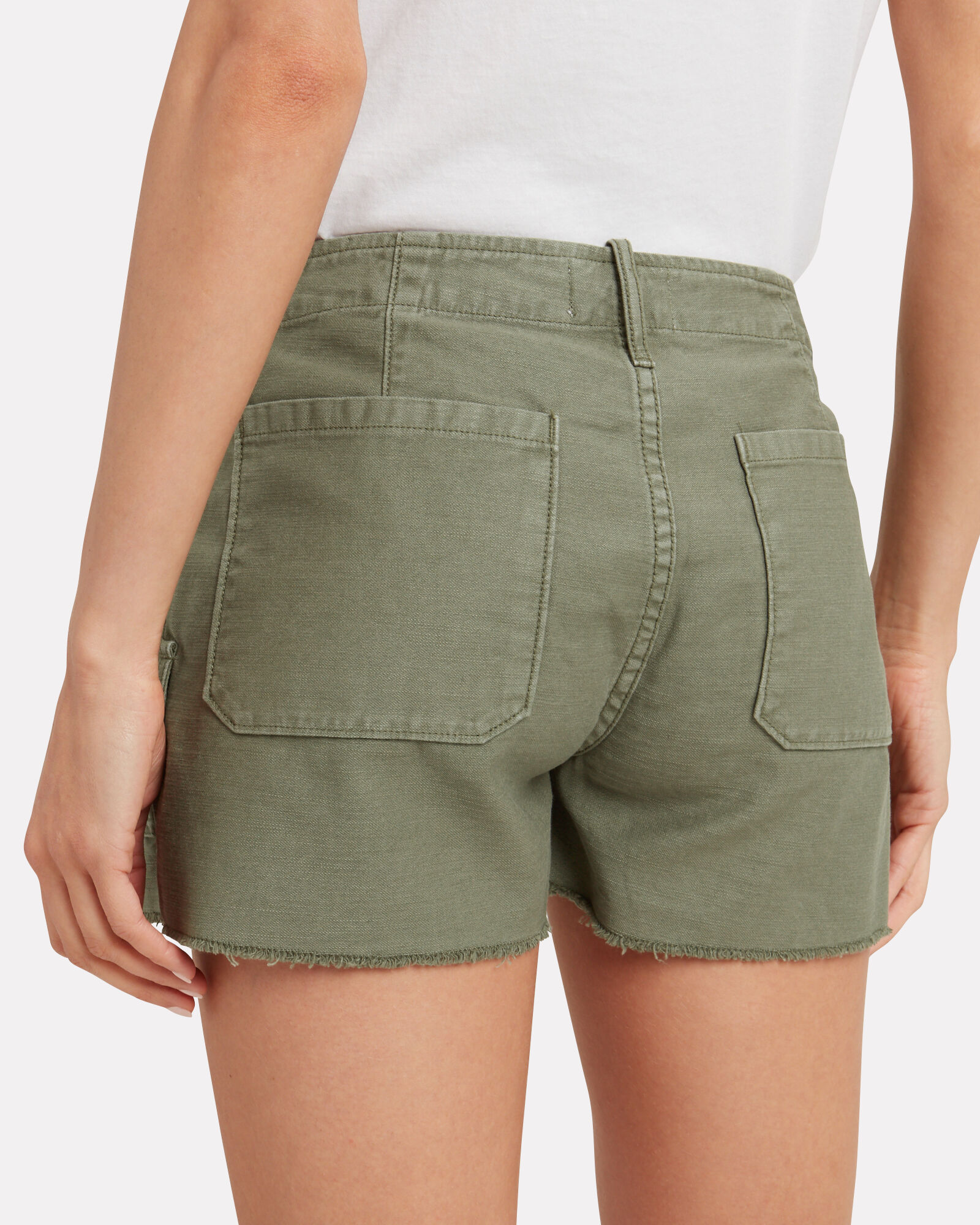 Service Cut-Off Cotton Shorts, OLIVE/ARMY, hi-res
