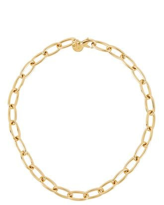 Classic Chain-Link Necklace, GOLD, hi-res