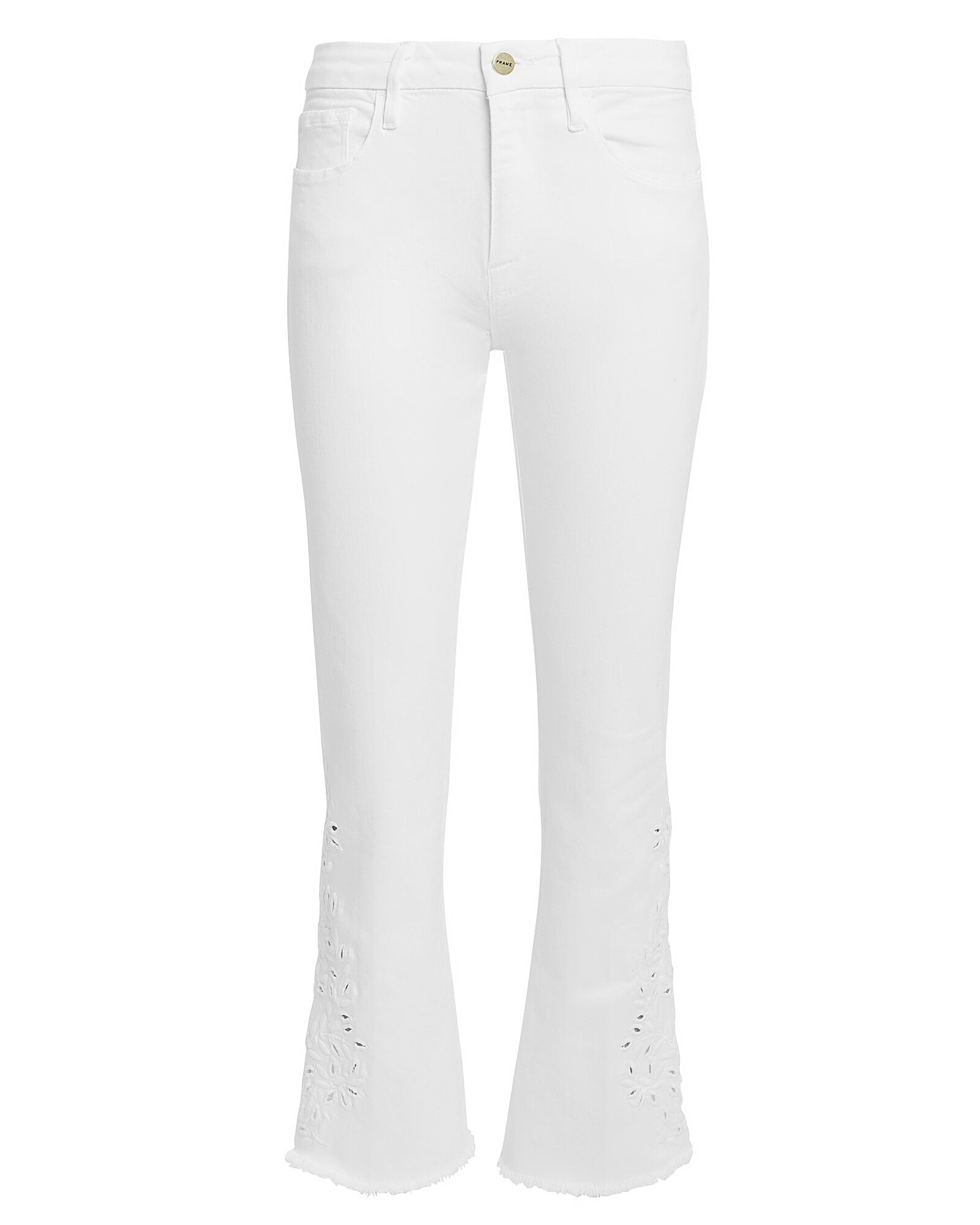 Le Mini Cropped Embroidered Jeans, WHITE, hi-res