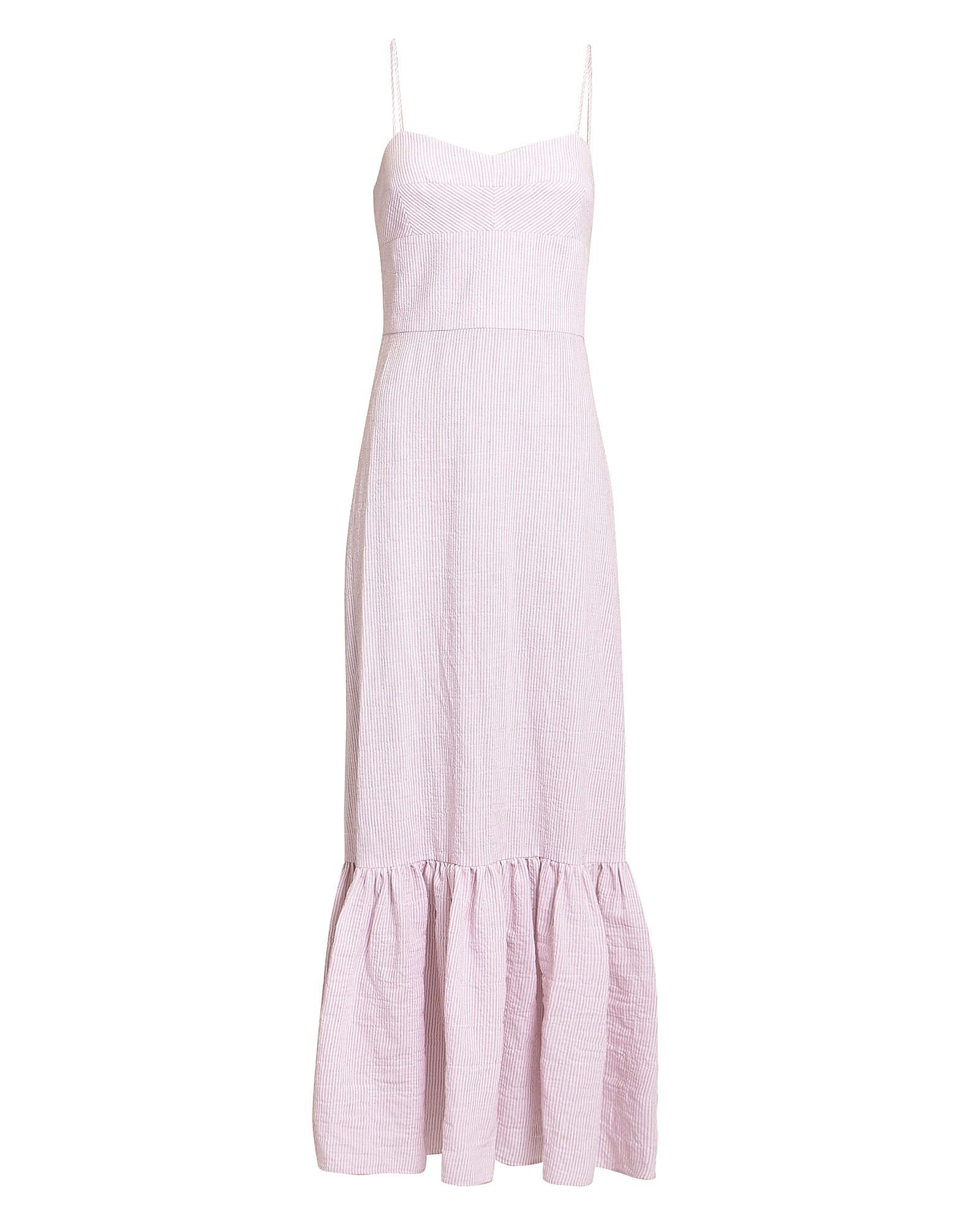 Surbi Striped Seersucker Dress, PINK, hi-res