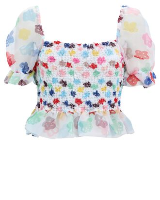 Cannon Smocked Puff Sleeve Top, MULTI, hi-res