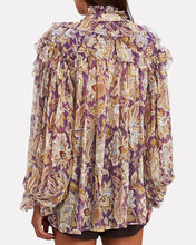Ladybeetle Ruffled Silk Chiffon Blouse, MULTI, hi-res