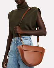 Hortensia Medium Leather Bag, BROWN, hi-res