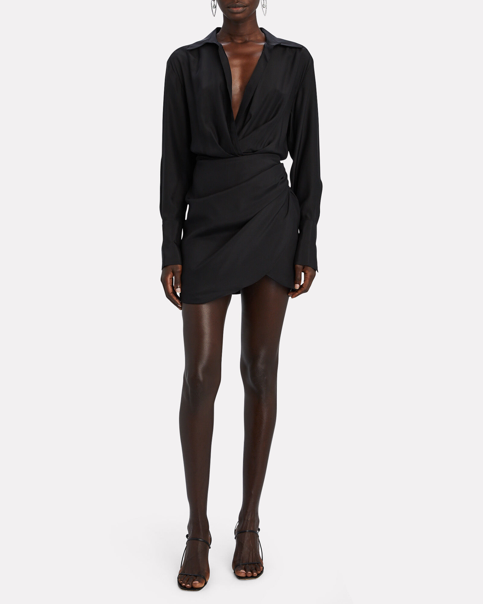 Naha Silk Mini Dress, BLACK, hi-res