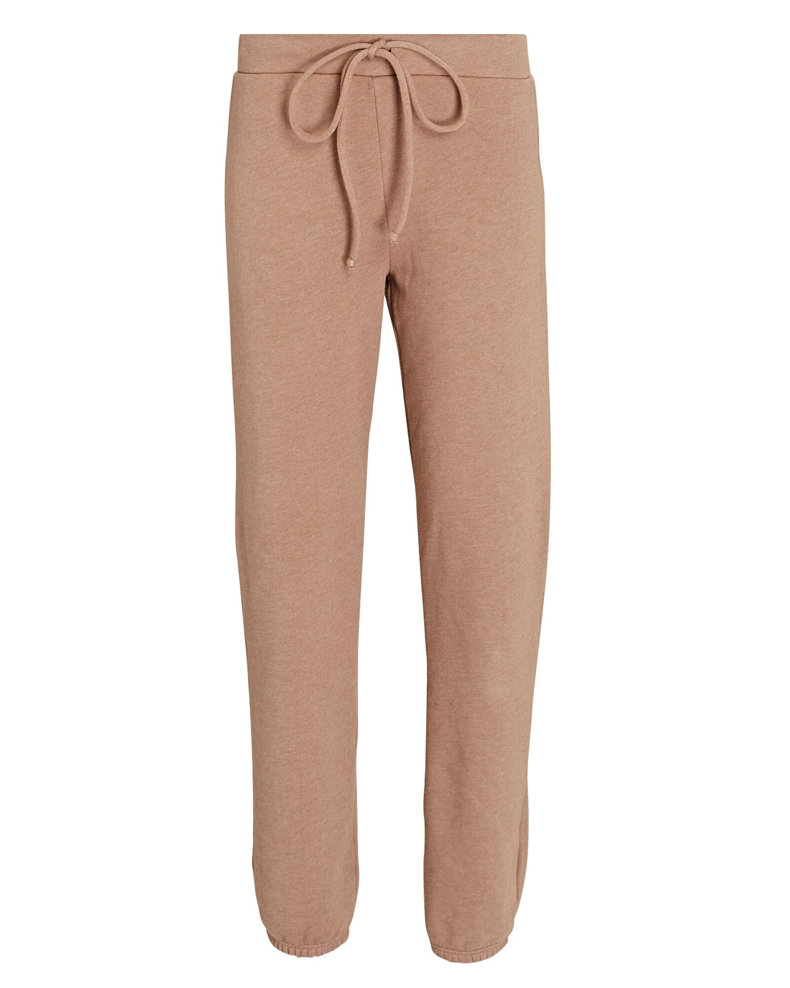 Cuffed Cotton-Blend Sweatpants, LIGHT BROWN, hi-res