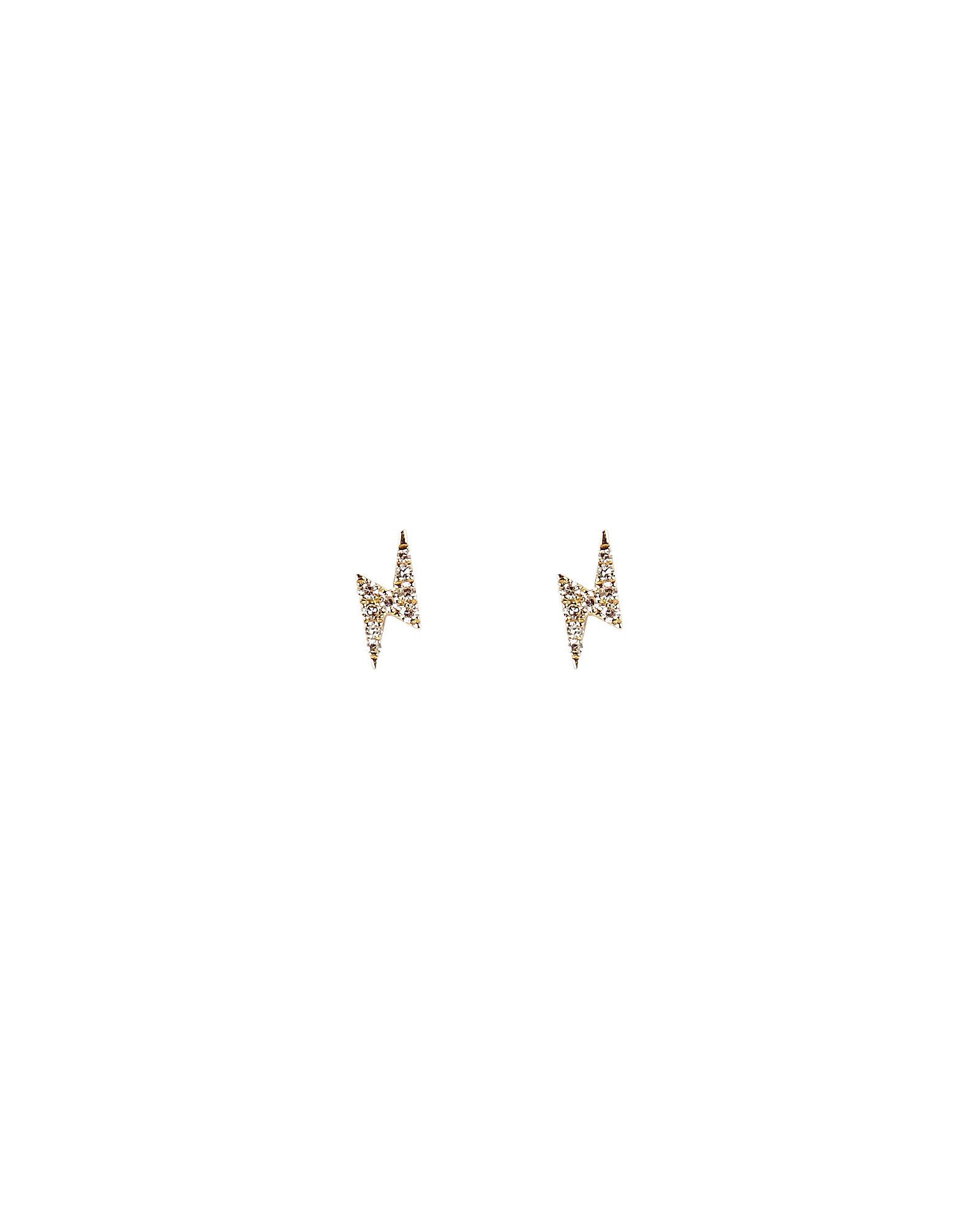 Mini Bolt Diamond Studs, GOLD, hi-res