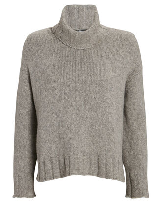 Zoe Turtleneck Sweater, GREY, hi-res