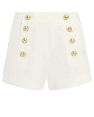 Tailored Cotton Sailor Shorts, WHITE, hi-res