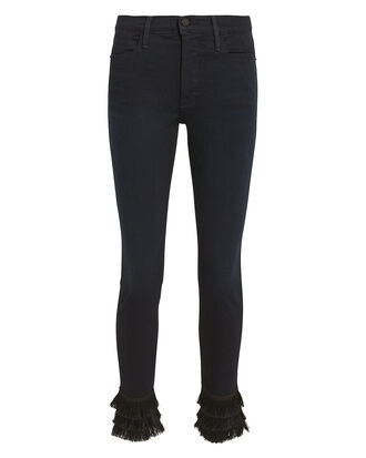 Le High Skinny Triple Fringe Jeans, DENIM-DRK, hi-res