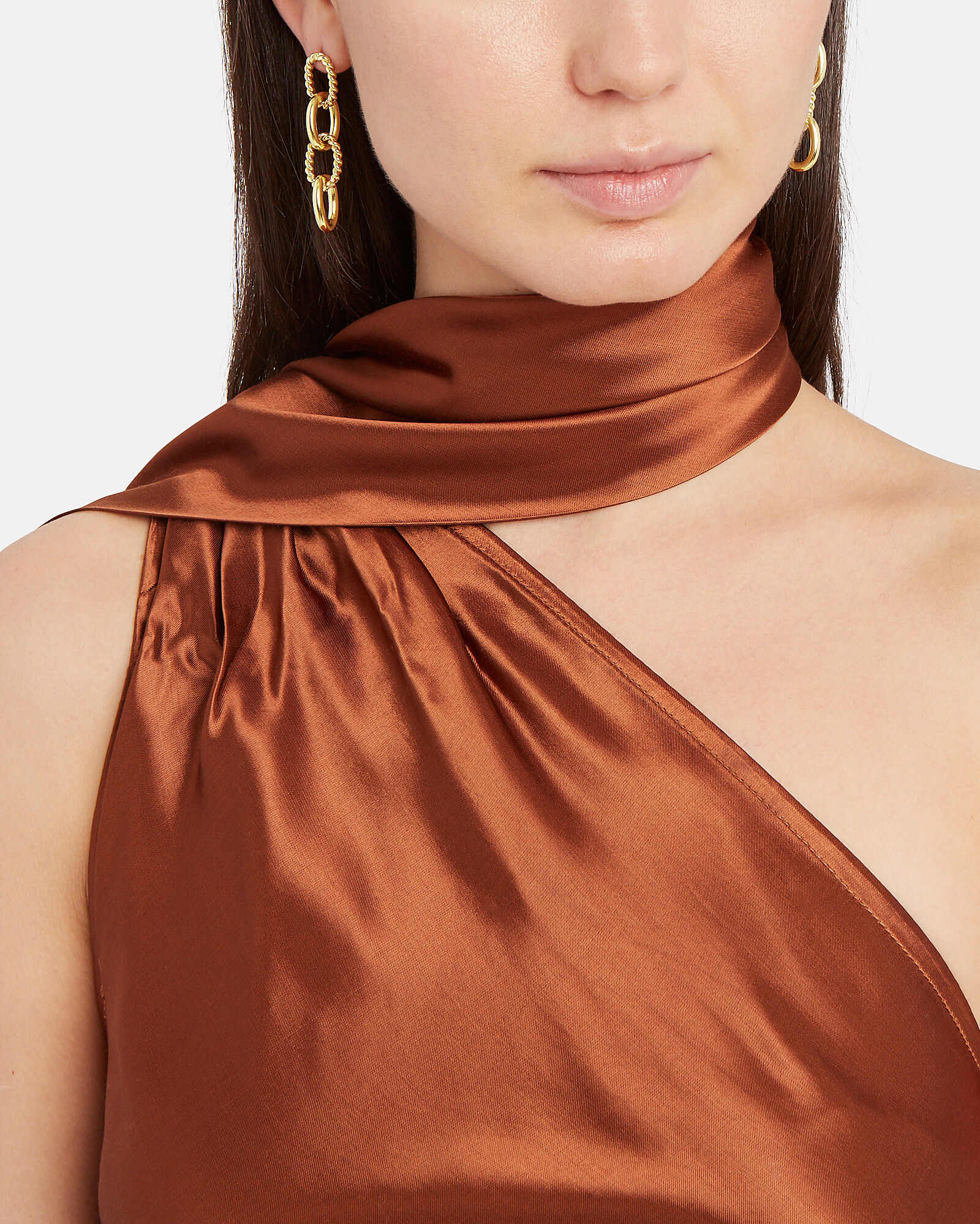 Chain Drop Earrings, GOLD, hi-res