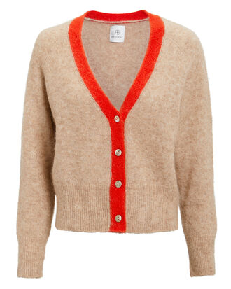 Mason Cardigan, BEIGE/RED, hi-res