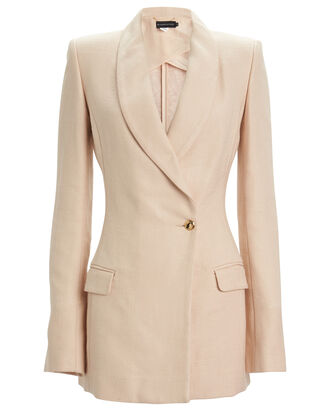 Tailored Shawl Collar Blazer, BLUSH, hi-res