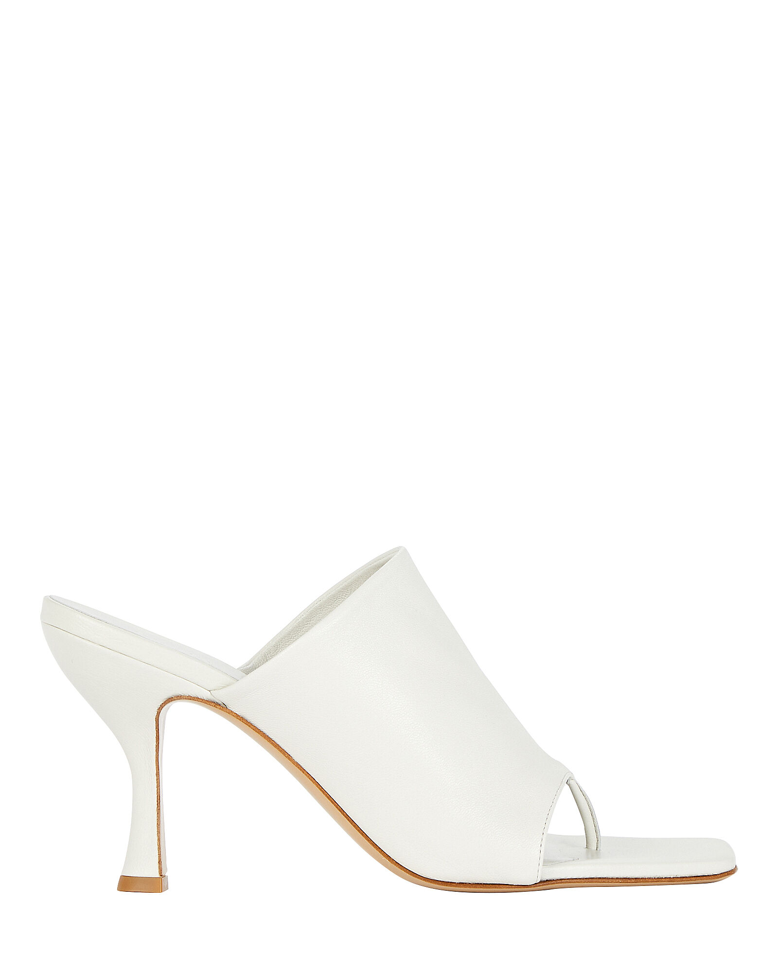 x Pernille Teisbaek Leather Thong Sandals, WHITE, hi-res