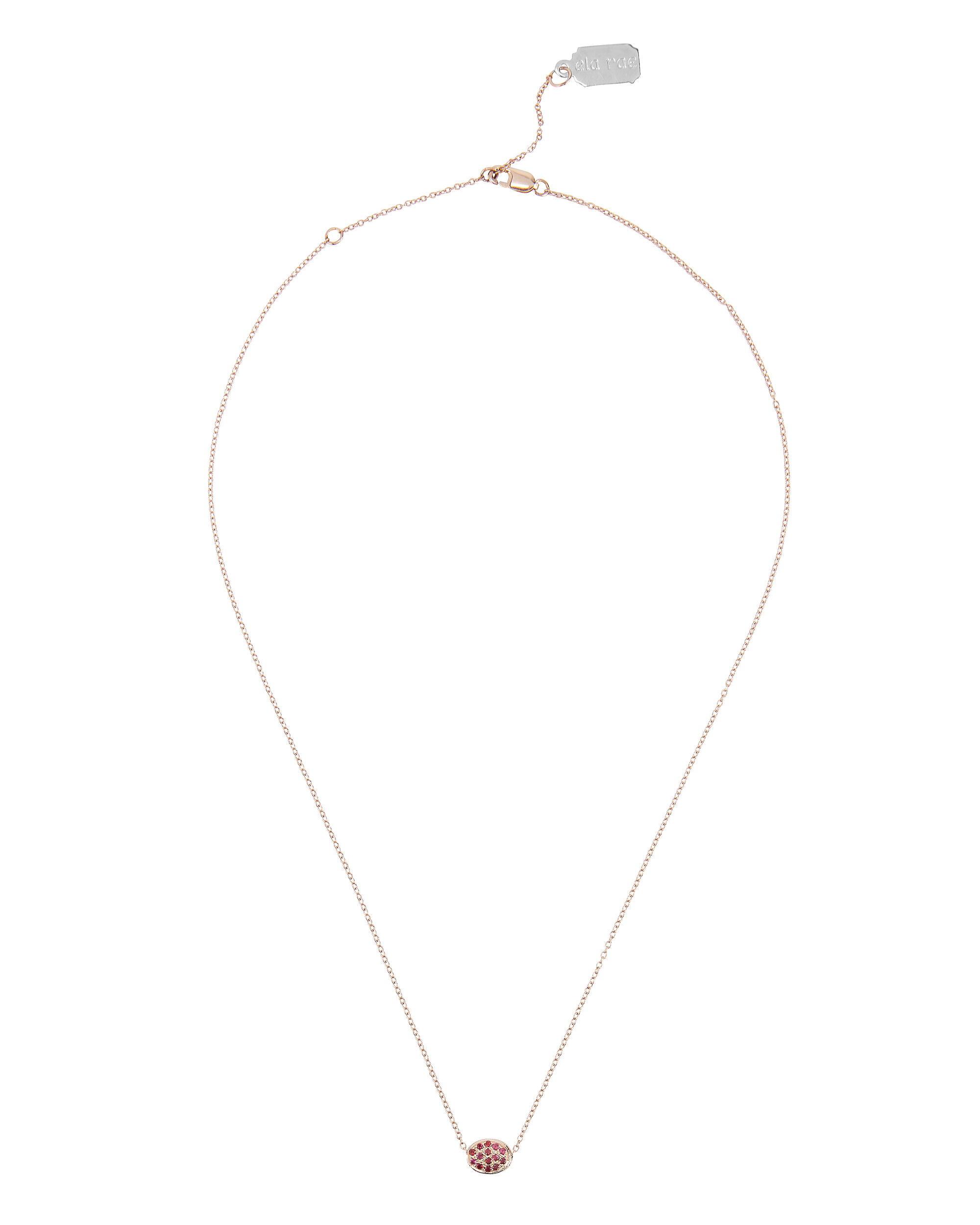 Bleecker Oval Necklace, GOLD, hi-res