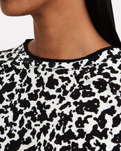 Notebook Print Fitted T-Shirt, BLACK/WHITE, hi-res
