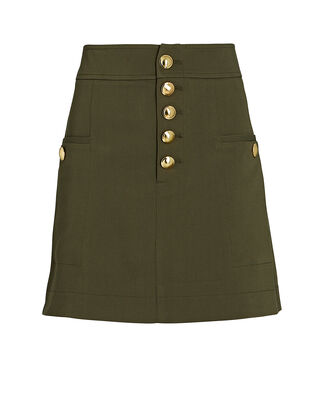 Palmer Mini Tencel-Blend Skirt, GREEN, hi-res