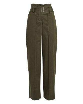 Belted Twill Utility Pant, OLIVE, hi-res