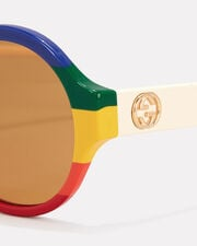 Rainbow Round Sunglasses, RAINBOW, hi-res