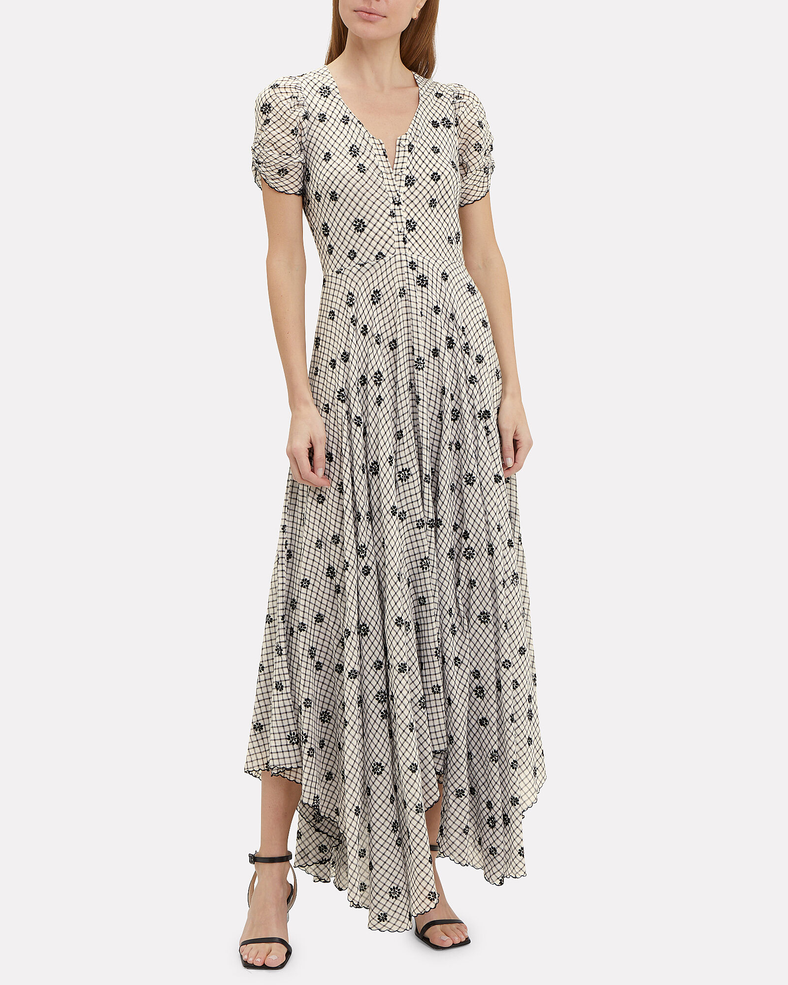Coraline Gingham Embroidered Maxi Dress, MULTI, hi-res
