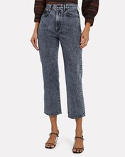 London Cropped High-Rise Jeans, GREY, hi-res