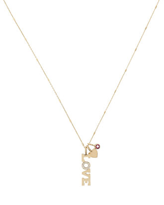 Love Necklace, GOLD, hi-res