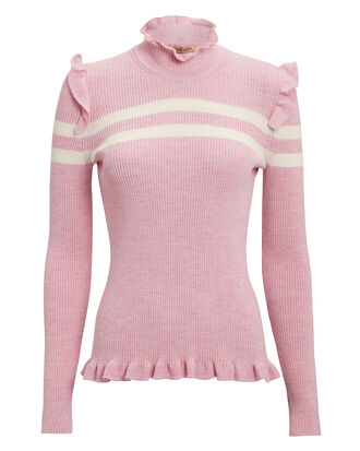 Far Far Away Knit Sweater, PINK/WHITE, hi-res