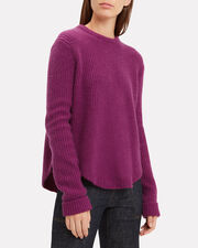 Ribbed Wool Pull-Over Sweater, MERLOT, hi-res