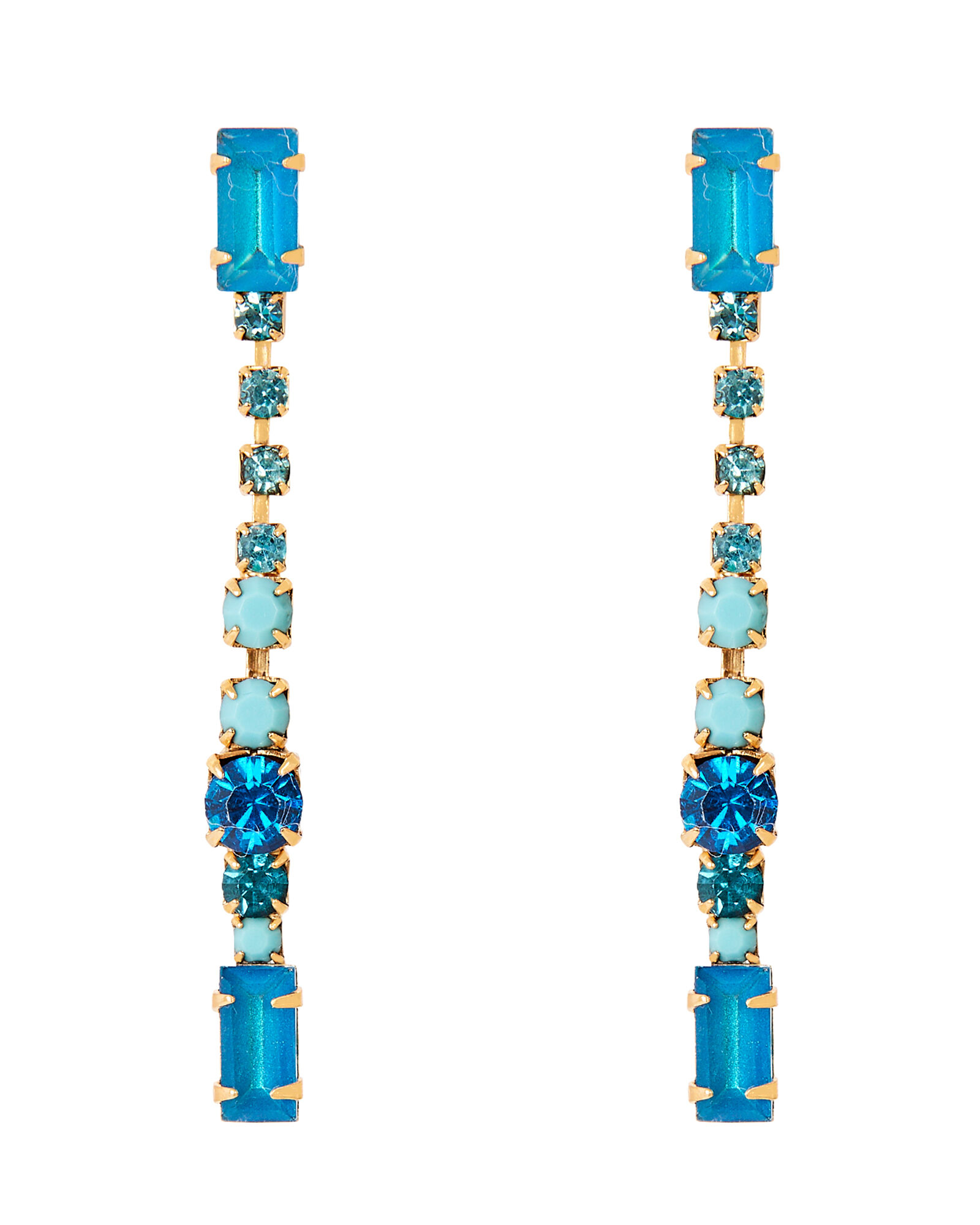 Gracelyn Linear Drop Earrings, BLUE-MED, hi-res
