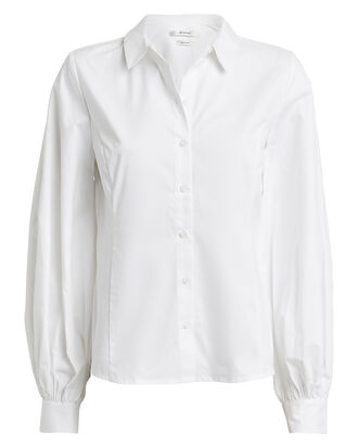 AlvaGZ Poplin Button Down Shirt, WHITE, hi-res